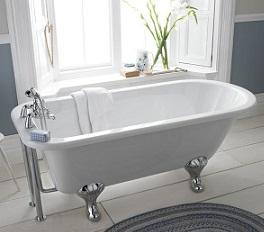 baignoire ilot à pieds