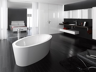 le design de la baignoire ilot fait son succ s baignoire ilot. Black Bedroom Furniture Sets. Home Design Ideas