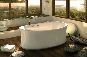 belle baignoire ilot