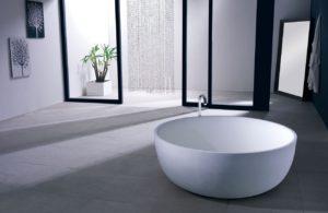 baignoire ronde design